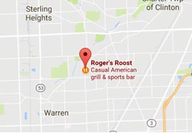 Map to Rogers Roost